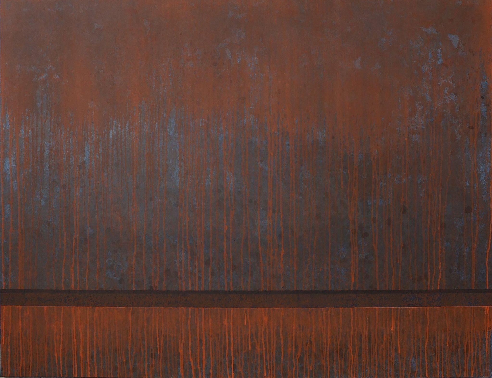 corten steel no8 acrylic on canvas 90 x 120 cm