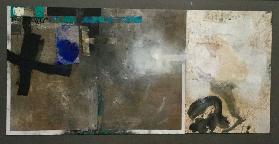 FROM SIROS CYCLE  Mixed media on plate  100 x 210 cm
