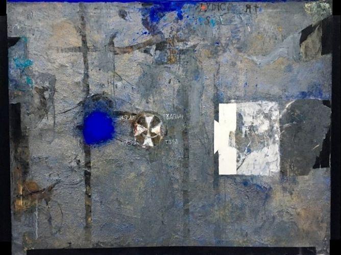 IMPOSSIBLE JOURNEYS. MADABA  Mixed media on canvas  121 x 161 cm