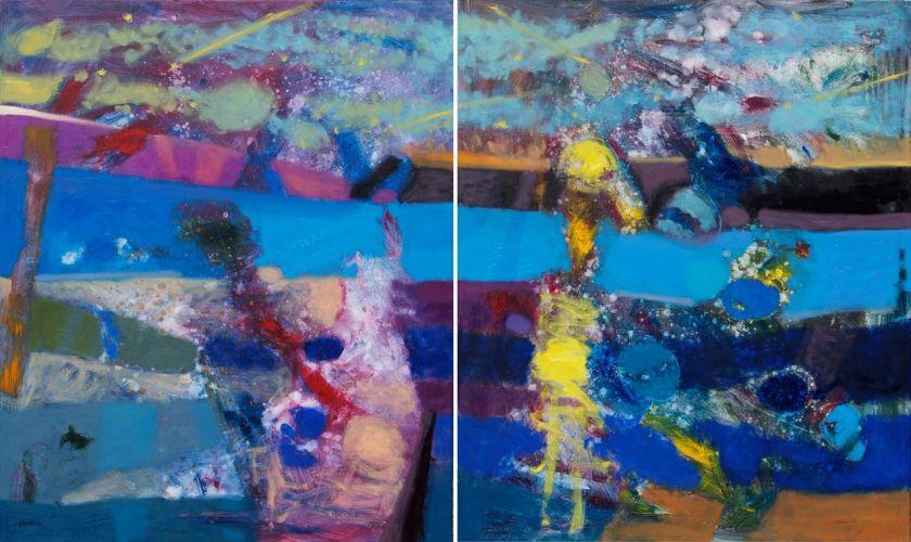 SEA AT NIGHT   Oil on canvas  120 x 200 cm  2012