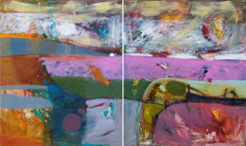 FOGGY MORNING  Oil on canvas 120 x 200 cm 2012