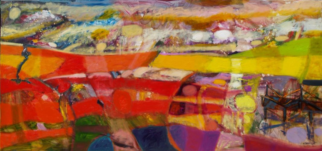 GOLDEN AUGUST  Oil on canvas 120 x 260 cm 2012
