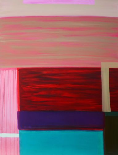 INCOMPLETE TANGO LESSON   Oil on canvas  130 x 100 cm