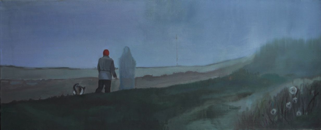 IN THE FOG   Oil on canvas  50 x 120 cm  2014