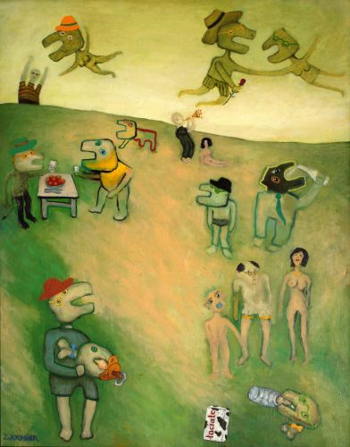 PICNIC  Oil on canvas  92 x 72 cm  1993-2011