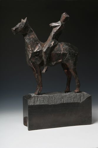 RIDER  cast bronze, granite  height 60 cm  2016