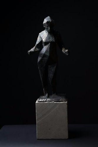 GAIA  cast bronze, sandstone  60 cm  2016