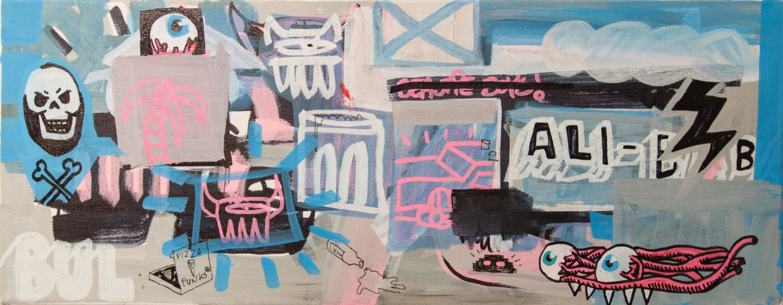 ALI-BABA  Acrylic on canvas  50 x 20 cm  2015