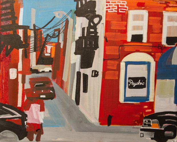 BALTIMORE​  Acrylic on canvas  32 x 27 cm  2015