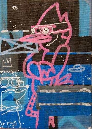 MORDECAI & RIGBY  Acrylic on canvas  13 x 18 cm  2015