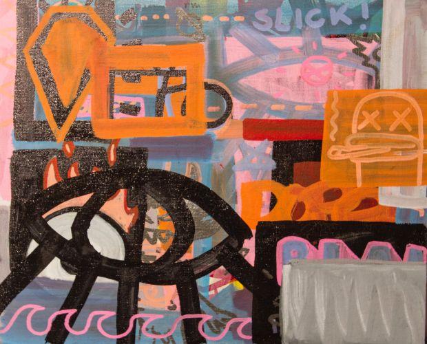 CALIFORNIA 1  Acrylic on canvas  30 x 24 cm  2015