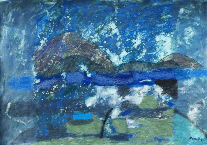 ASHY ISLANDS  Mixed technique on paper  100 x 70 cm  2009