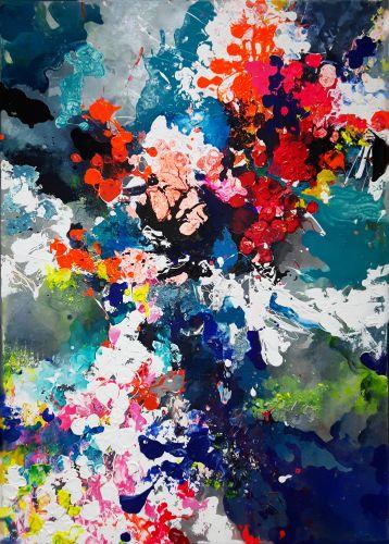 EXPLOSION  Own technique  140 x 100 cm  2014