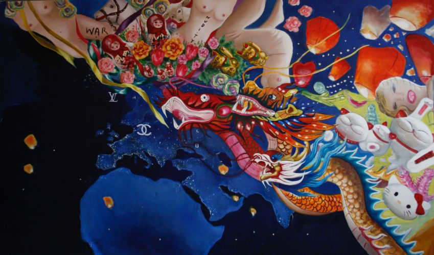 EUROASIA  Oil on canvas  200 x 120 cm  2013
