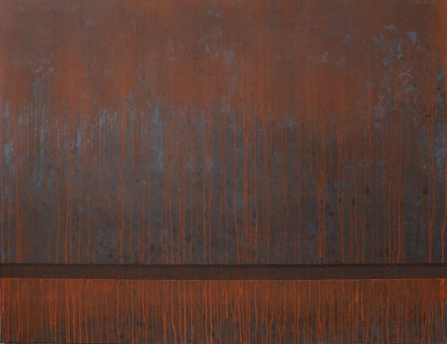 CORTEN STEEL NO.8   Acrylic on canvas  90 x 120 cm  2015​