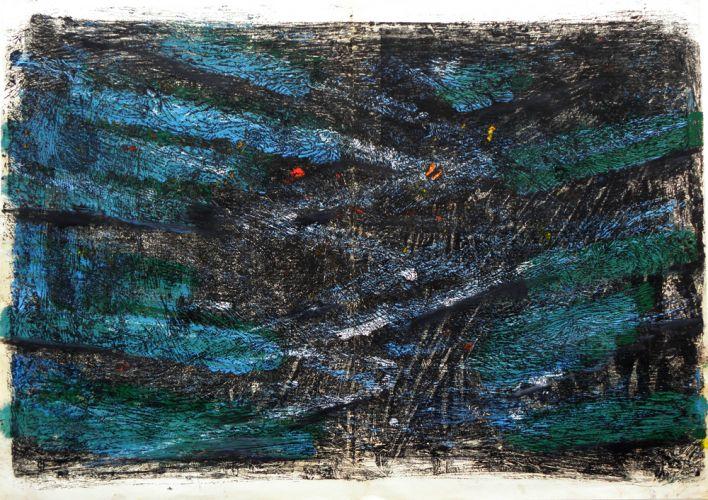 MONOTYPING (SERIES IX) 2  Oil on paper  62 x 45 cm  2016