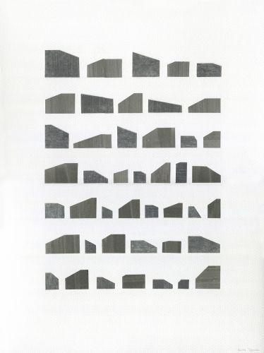 BUILDINGS I  Collage, Fabriano Texture Paper 200 g/m2, black aluminium frame  30 x 40 cm  2016
