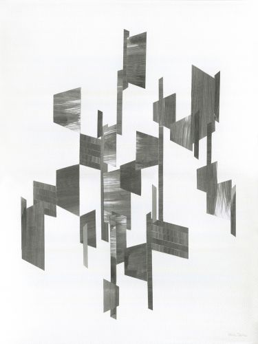 COMPOSITION III  Collage, Fabriano Texture Paper 300 g/m2, black aluminium frame  30 x 40 cm  2015