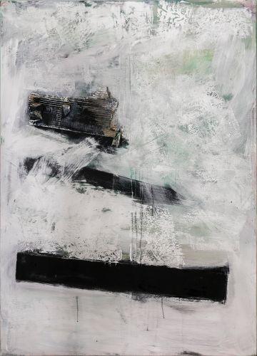STRIKES  Collage on canvas  140 x 100 cm  2016