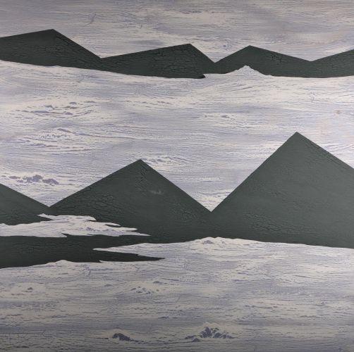 LOS GIGANTES II  Oil and acrylic on wood panel   100 x 100 cm  2012