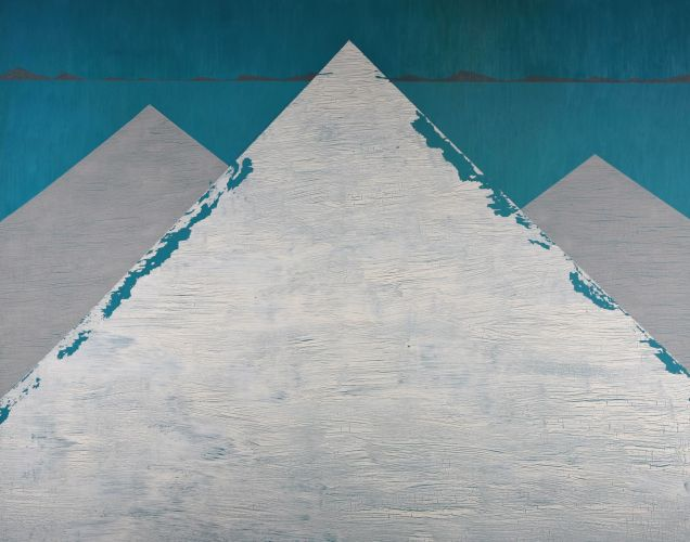 LOS GIGANTES I​  Oil and acrylic on wood panel  72 x 90 cm  2012