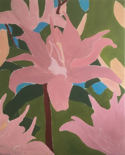 LILIES - FIRST DREAM  Oil on canvas  150 x 200 cm  2018