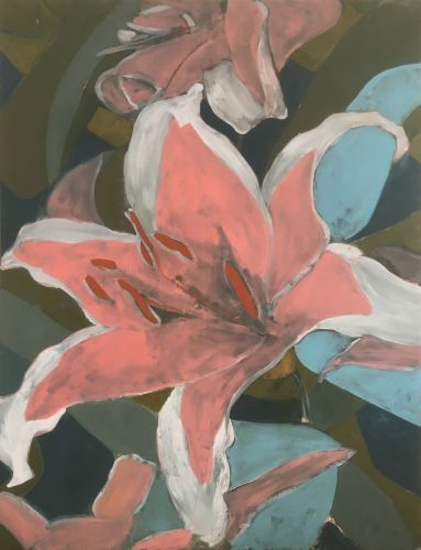 LILIES - SECOND DREAM  Oil on canvas  150 x 200 cm  2018