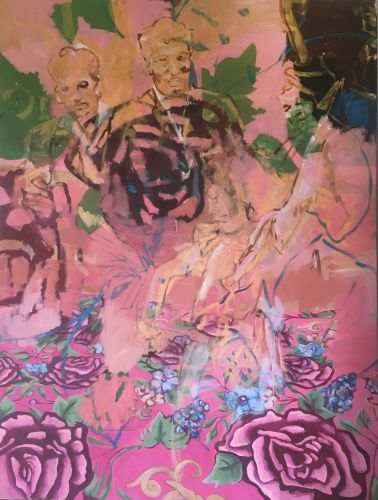 LILIES - FOURTH DREAM  Oil on canvas  150 x 200 cm  2018